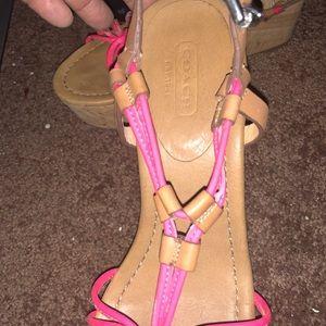 Coach wedge heel sandals